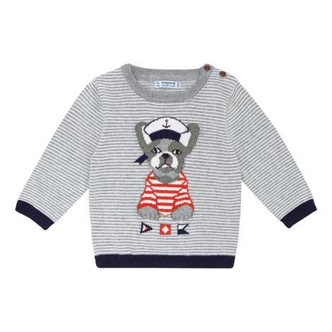 Striped French Bulldog Sweater, ${color}