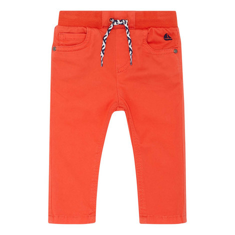 Drawstring Cotton Trousers, ${color}