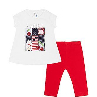 Two-Piece Ladybird T-Shirt & Bottoms