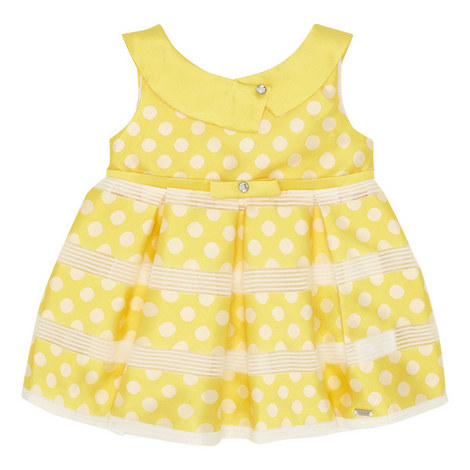 Polka Dot Satin Dress Baby, ${color}