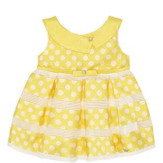 Polka Dot Satin Dress Baby