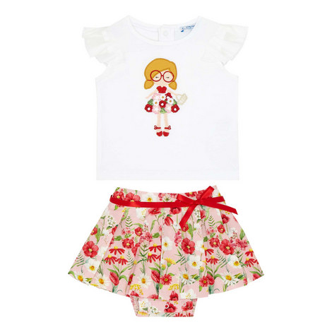 Two-Piece Floral T-Shirt And Skirt Set Baby, ${color}