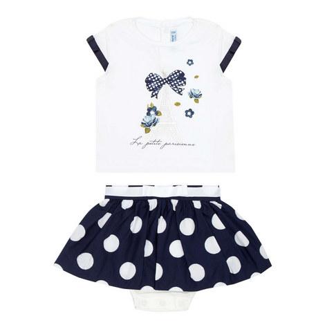 Two-Piece T-Shirt & Skirt Set, ${color}