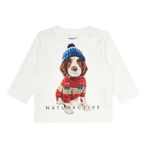 Long Sleeve Dog Print T-Shirt, ${color}