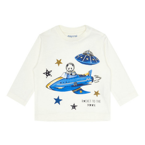 Long Sleeve Space Print T-Shirt, ${color}
