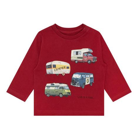 Long Sleeve VW Van Print T-Shirt, ${color}