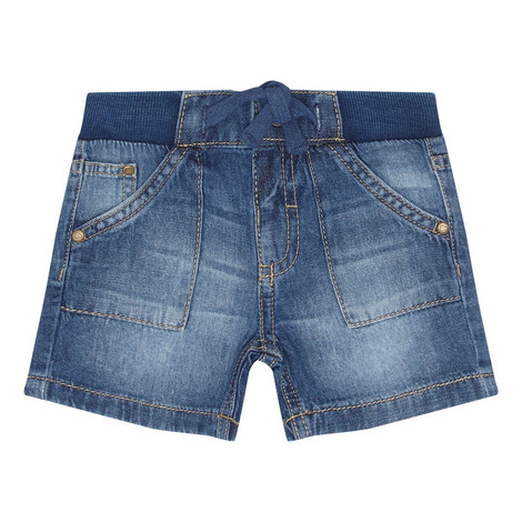 Denim Pull-On Shorts, ${color}