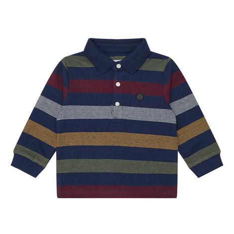Large Stripe Polo Shirt, ${color}