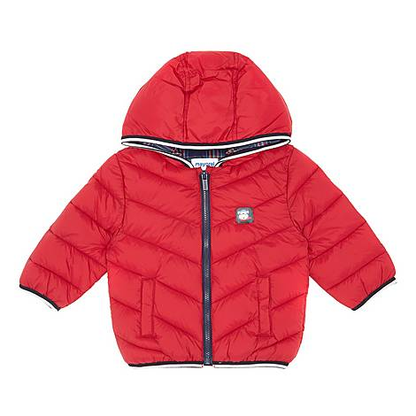 Chevron Quilted Puffer Coat, ${color}