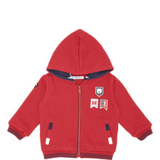 Flag Patch Zipped Hoodie