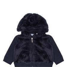 Jersey and Fur Zip Jacket