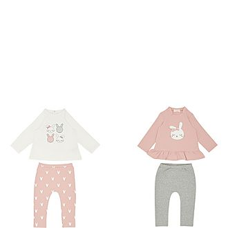 Two-Pack Bunny Outfit Set