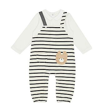 Striped Teddy Rompersuit