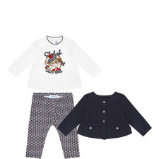 Three-Piece Tops & Leggings Set Baby