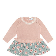 Knitted Floral Dress Baby