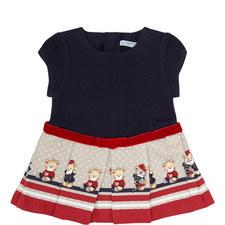 Teddy Print Dress Baby