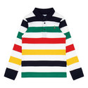 Long Sleeve Stripe Rugby Shirt, ${color}
