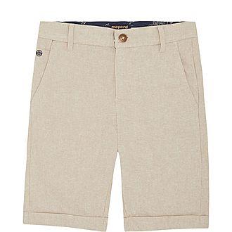 Cotton-Linen Blend Shorts
