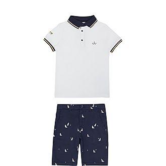 Two-Piece Polo Shirt & Shorts