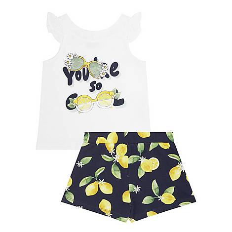 Two-Piece Cool T-Shirt & Shorts Set, ${color}