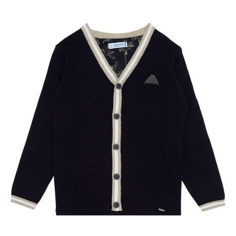 V-Neck Knitted Cardigan, ${color}
