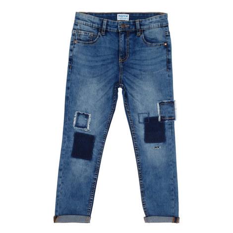 Patch Detail Jeans, ${color}