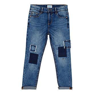 Patch Detail Jeans