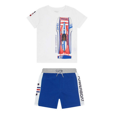 Two-Piece Powerboat T-Shirt and Shorts Set, ${color}