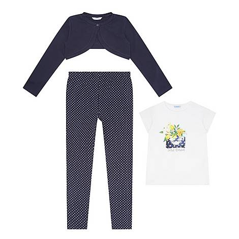 Three-Piece Cardigan, T-Shirt & Leggings Set, ${color}