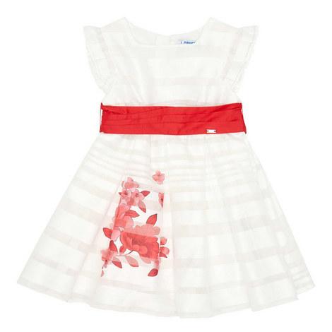 Floral Print Belted Dress, ${color}