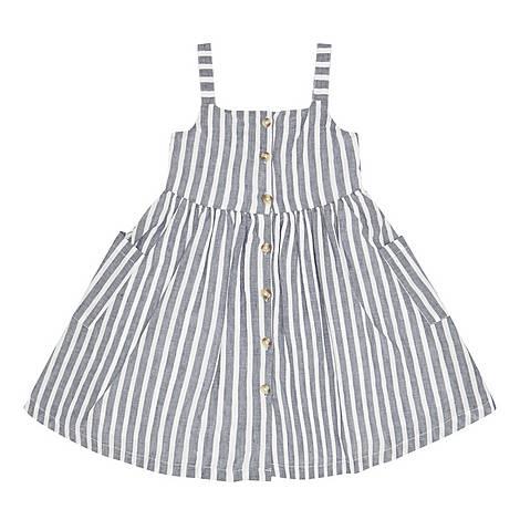 Linen Stripe Dress, ${color}