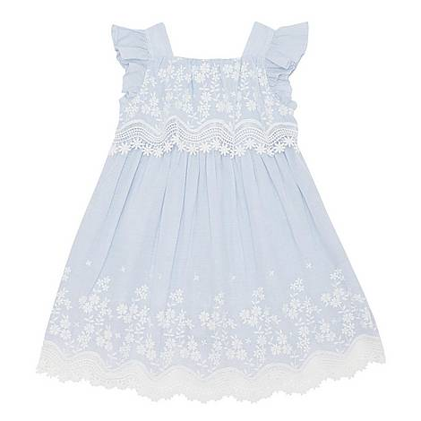 Striped Lace Detail Dress , ${color}