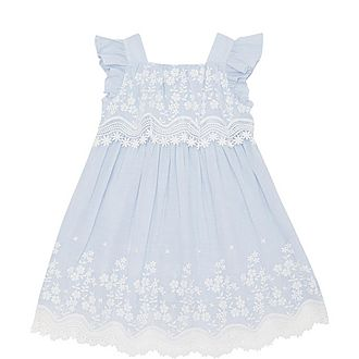Striped Lace Detail Dress