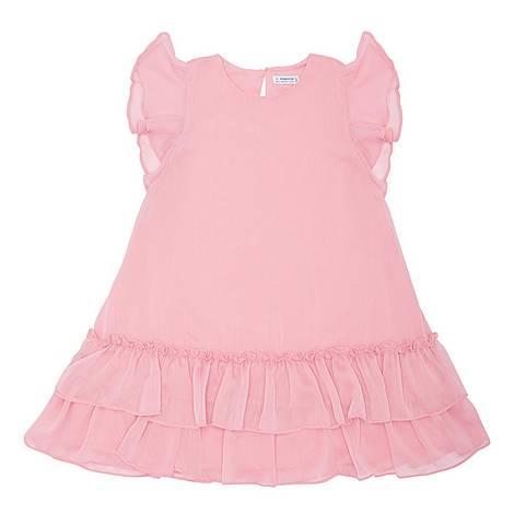 Frill Chiffon Dress, ${color}
