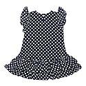 Polka Dot Frill Chiffon Dress, ${color}