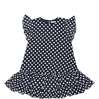 Polka Dot Frill Chiffon Dress