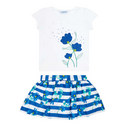 Two-Piece T-Shirt & Skirt Set, ${color}