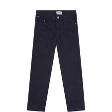 Denim Twill Slim Trousers
