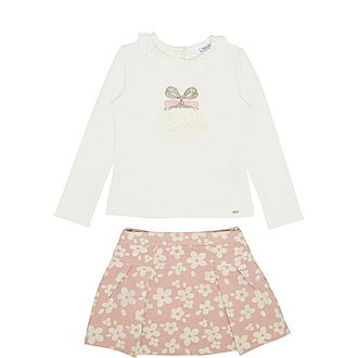 Two Piece T-Shirt and Skirt Set