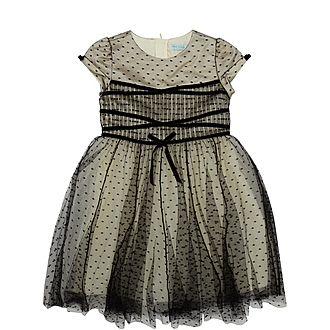 Polka-Dot Tulle Dress