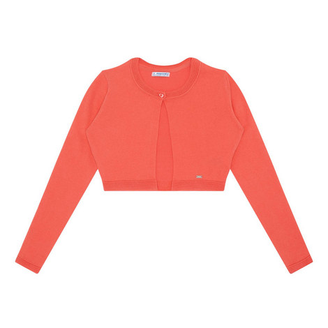 Cropped Rounded Cardigan, ${color}