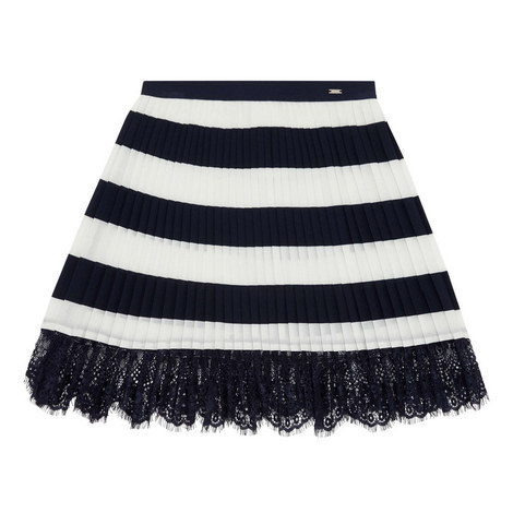 Striped Lace Skirt, ${color}