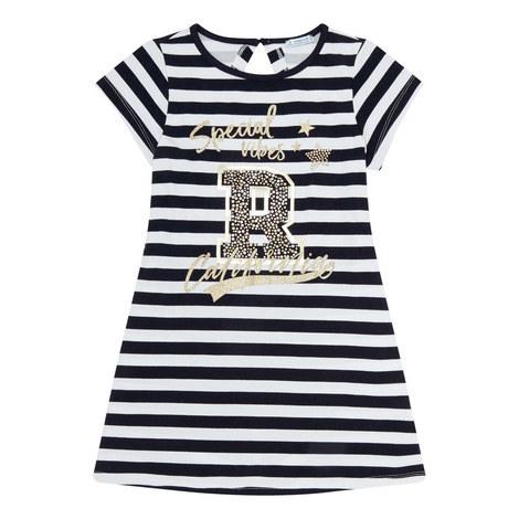 Stripe Embellished Dress, ${color}