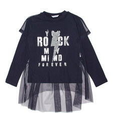 Rock Mesh Sequin Top