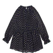 Spot Ruffle Dress