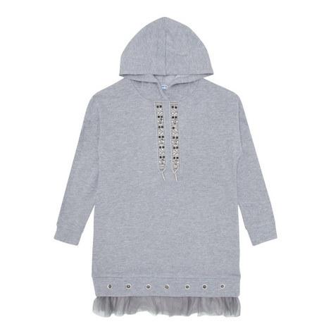 Fleece Appliqué Dress, ${color}