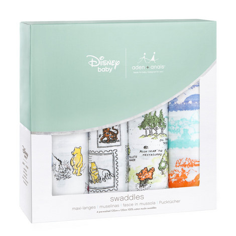 4-Pack Winnie-the-Pooh Swaddles, ${color}