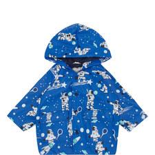 Space Print Raincoat Baby