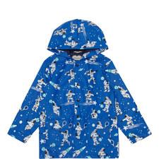 Space Print Raincoat