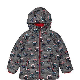 Beanie Hat Dog Print Coat